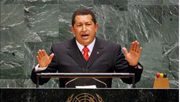 CHÁVEZ PIDE REFORMA EN LA ONU Y DENUNCIA AL IMPERIALISMO  ESTADOUNIDENSE